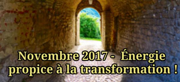 Novembre 2017-Énergie propice à la transformation