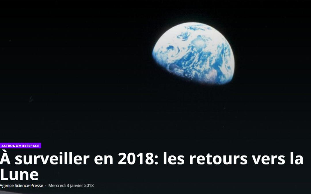 À surveiller en 2018: les retours vers la Lune