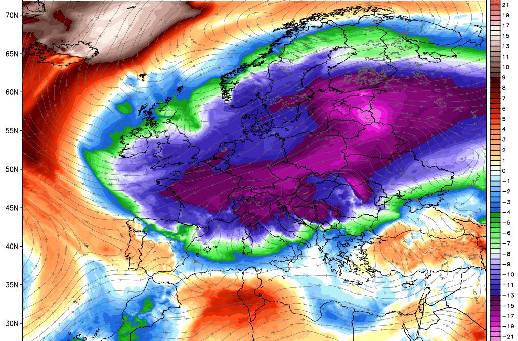 Il fera plus chaud au pôle Nord que dans une grande partie de l'Europe la semaine prochaine