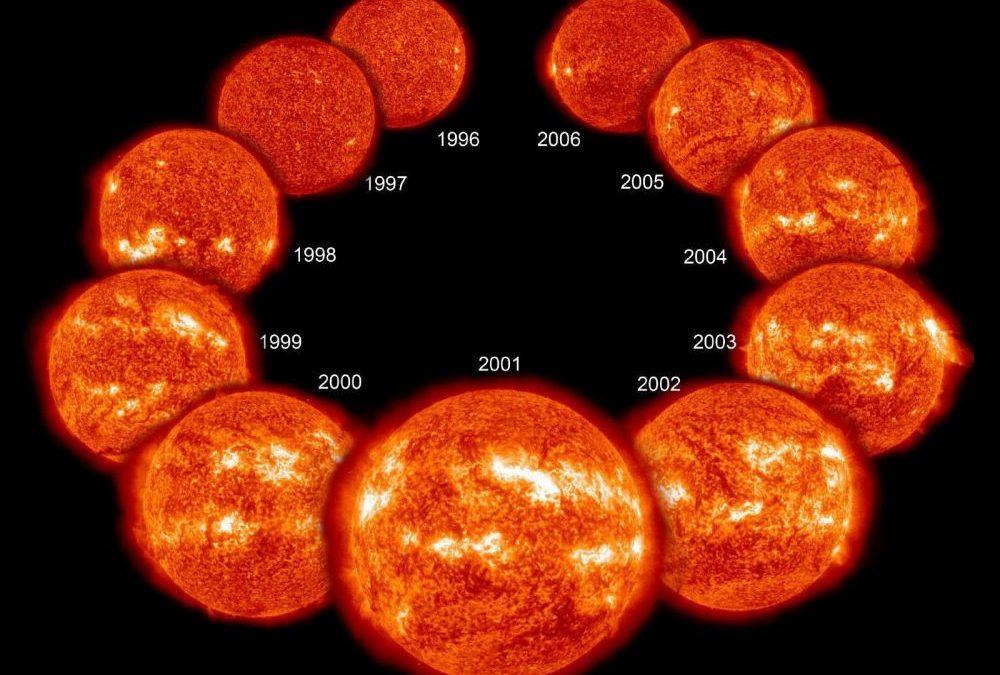 Le Soleil rétrécit légèrement quand il est actif