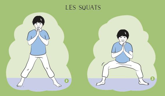 Yoga pour enfants : Trop d'énergie… on fait des squats