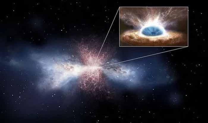 Un trou noir supermassif projette de l'ÉNERGIE dans l'espace à 4 345 228 KM/H