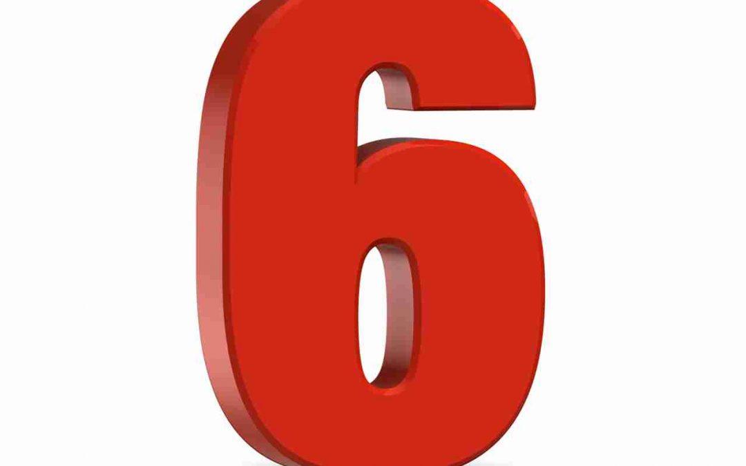 Nombre 6 : numérologie et explications