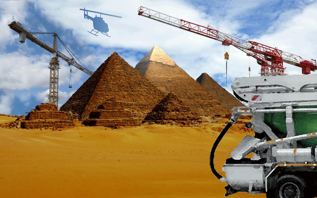 Pyramides en ciment ?